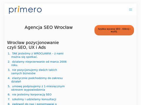 Primero.pl pozycjonowanie stron Wrocław