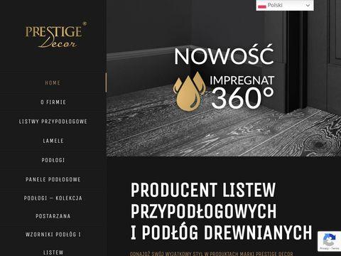 Prestige Decor listwy przypodłogowe