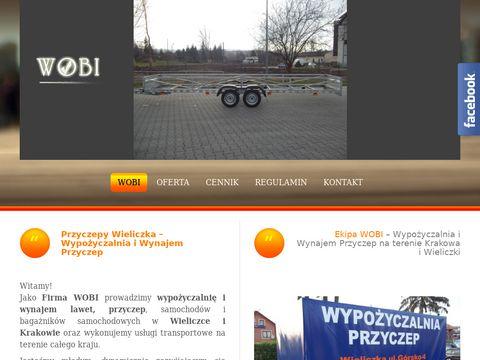 WOBI - wypożyczalnia przyczep Wieliczka