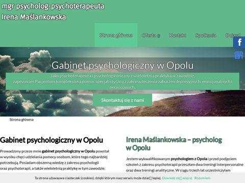 Mgr Irena Maślankowska leczenie fobii