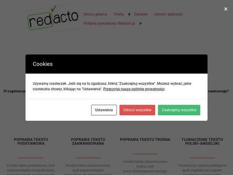 Redacto.pl korekta tekstów