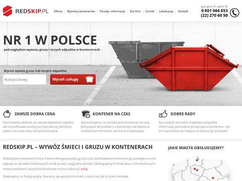 Redskip.pl wywóz gruzu i nie tylko