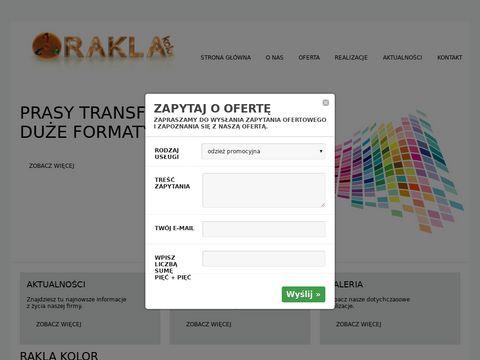 Rakla-kolor.pl nadruki na torbach