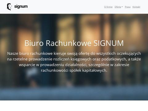Signum Biuro rachunkowe Krzeszowice