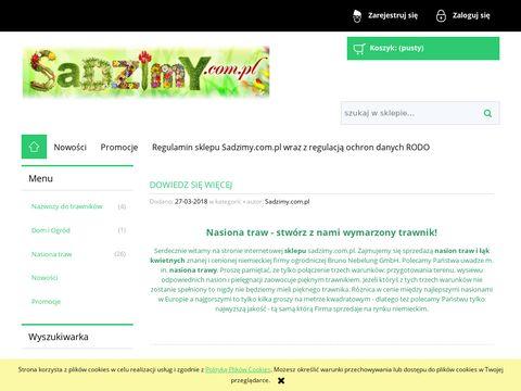 Sadzimy.com.pl - Nasiona trawy w niskich cenach