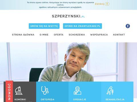 Szperzynski.pl ortopeda traumatolog