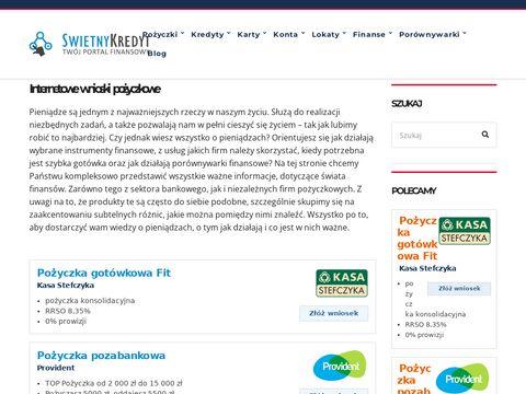 Swietnykredyt.pl pożyczki przez internet