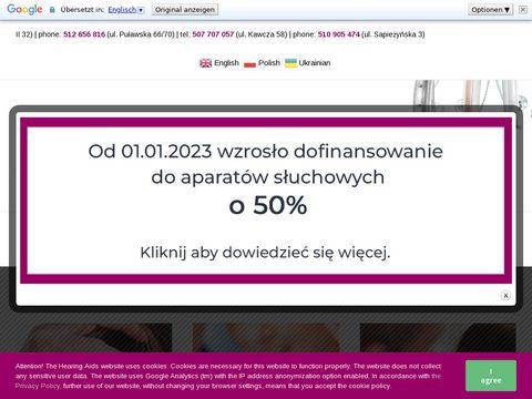 Strefasluchu.pl aparaty słuchowe Warszawa