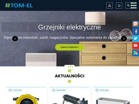 Tom-El elektryczne grzejniki przemysłowe