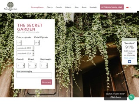 Secret Garden tanie noclegi Kraków