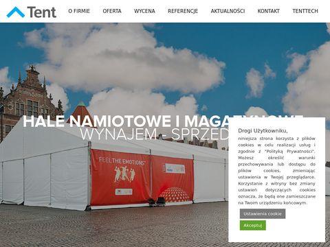 Tent.com.pl hala namiotowa wynajem