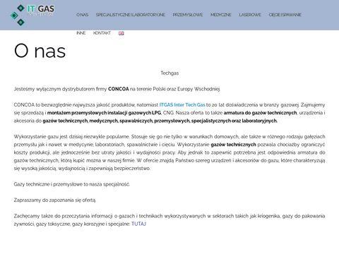 Tech-gas.pl gazy wysokiej czystości
