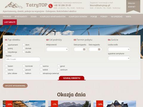 Tatrytop.pl wynajem domku w górach