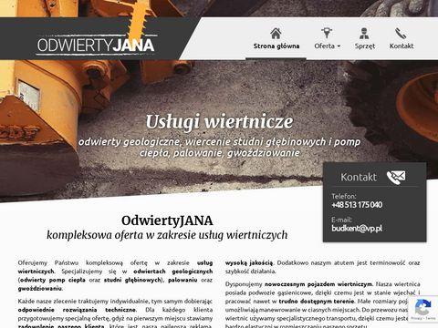 Uslugi-wiertnicze.pl odwierty pod pompy ciepła