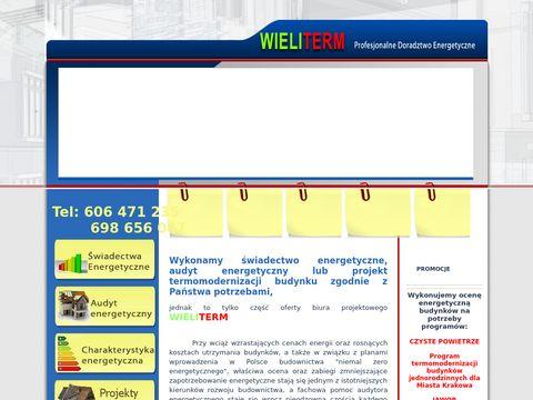 Wieliterm.pl świadectwo energetyczne Kraków