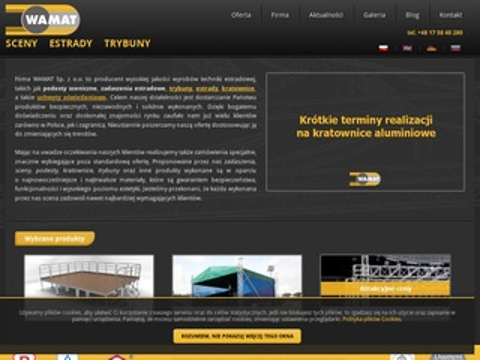 Wamat.com.pl - kratownica, estrady