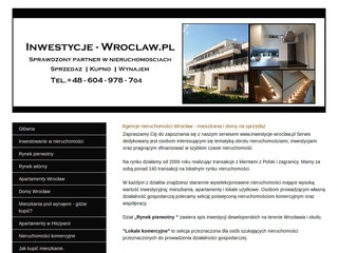 Inwestycje-wroclaw.pl Inwestowanie w nieruchomości