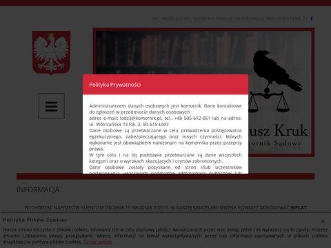 Janusz Kruk Łódź komornik