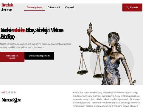 Jeziorscy.com.pl kancelaria notariusza Łódź