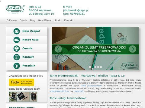 Japa-przeprowadzki.com.pl transport mebli Warszawa