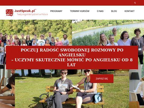 JustSpeak - wyjazdowy kurs angielskiego