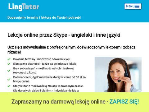 Korepetycje-online.com.pl Angielski przez Skype