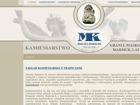 Maciej Kubicki kamieniarz Warszawa