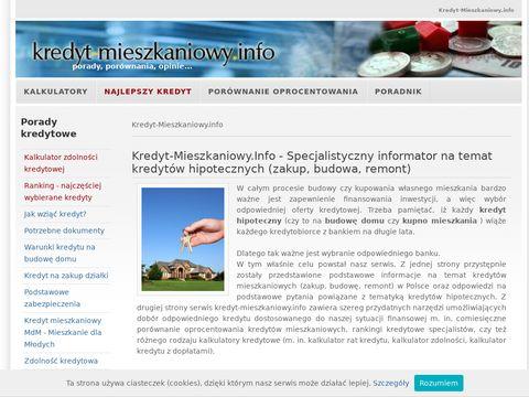 Kredyt na budowe domu kredyt-mieszkaniowy.info