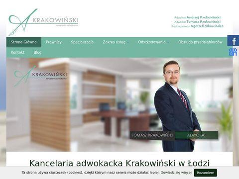 Krakowinski.pl odszkodowania Łódź
