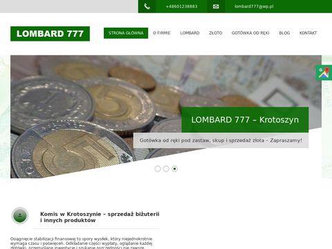 Lombard777.pl złoto skup Krotoszyn