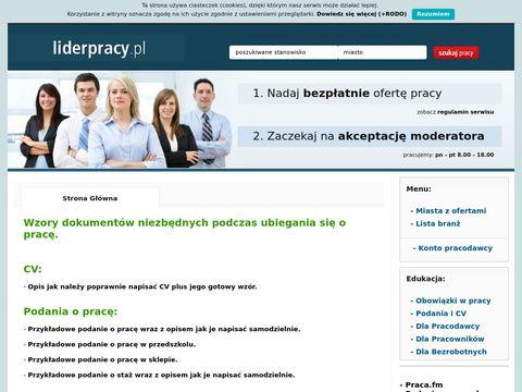 Informacje o stronie liderpracy.pl