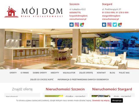 Mojdom-nieruchomosci.pl nowe domy Stargard