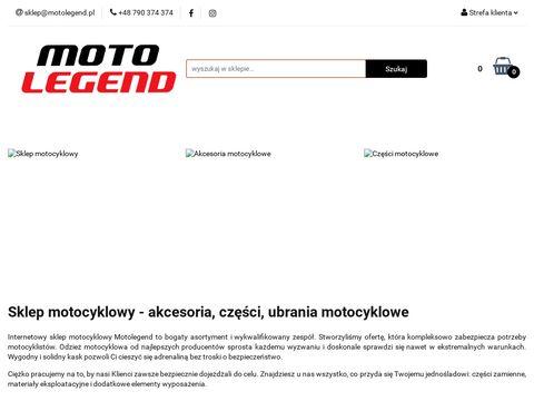 Motolegend.pl sklep motocyklowy