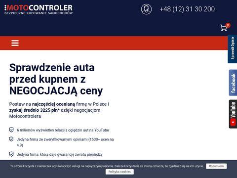 Motocontroler.com sprawdzanie samochodów