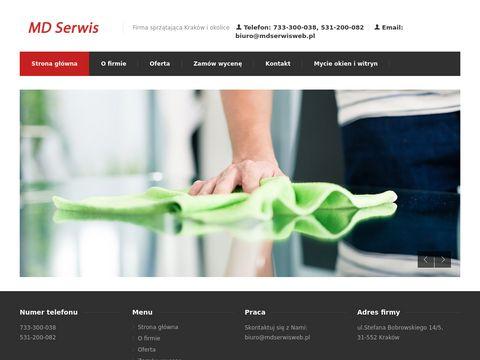 Mdserwisweb.pl sprzątający Kraków