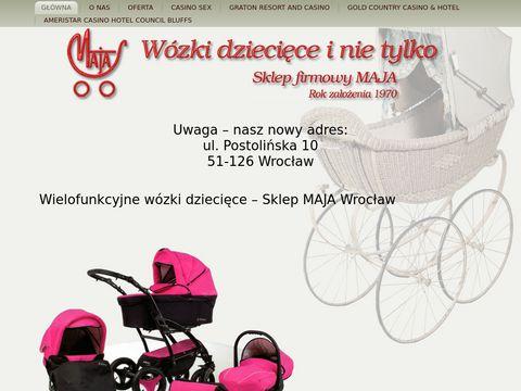 Maja.sklep.pl Wrocław wózki dziecięce