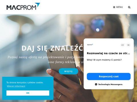 Macprom strony internetowe
