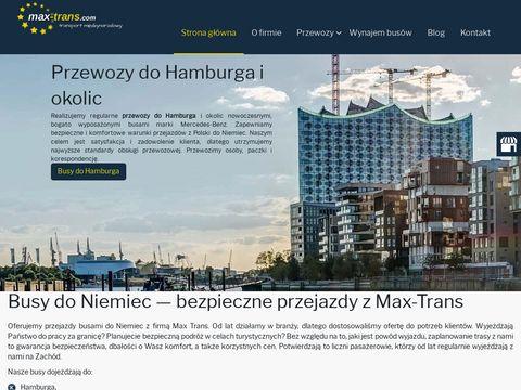 Max-Trans przewozy do Lubeki z Wrocławia