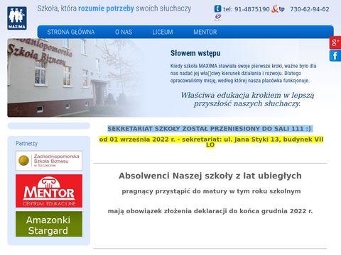 Maxima szkoła dla dorosłych Szczecin