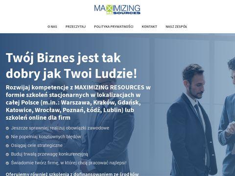 Maxres.pl szkolenia Excel Kraków