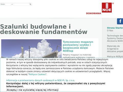 Noe.pl systemy szalunkowe