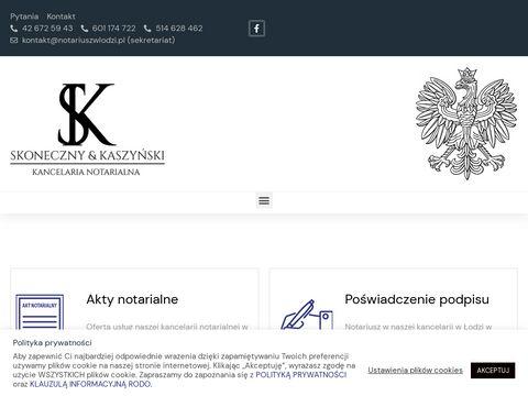 J. Skoneczny, D.J. Kaszyński notariusze
