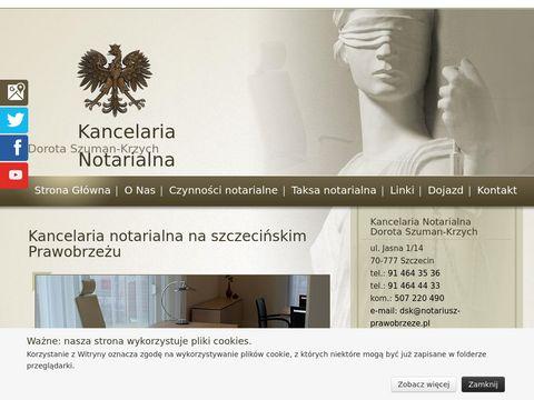 Szuman-Krzych Dorota notariusz