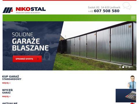 Niko-stal.pl producent garaży blaszanych