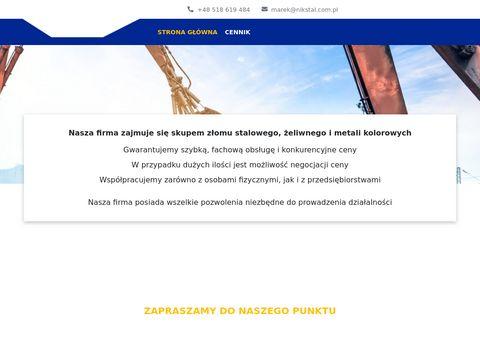 Nikstal.com.pl skup złomu i metali kolorowych Zawiercie