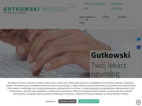 Neurolog-gutkowski.pl ból kręgosłupa
