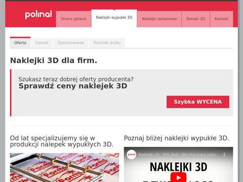 Nalepki3d.pl naklejki wypukłe