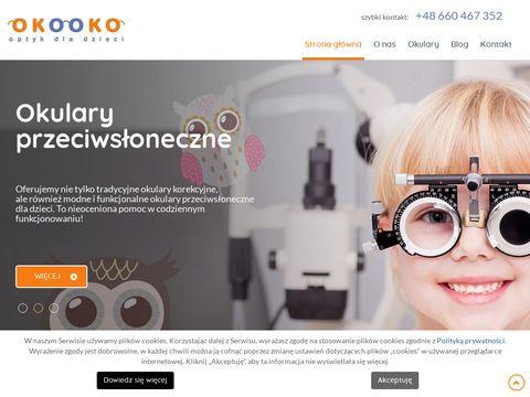 Okooko.com.pl salon optyczny dla dzieci Łódź
