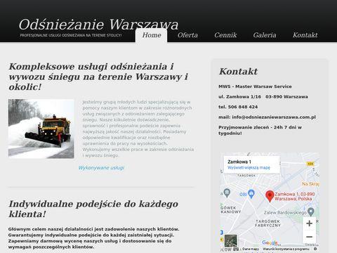MWS - profesjonalne odśnieżanie Warszawa