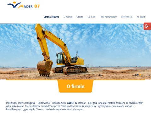 Ander87.pl budowa przepompowni Poznań